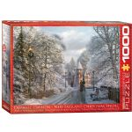 New England Christmas Stroll 1000 Piece Puzzle by Dominic Davidson